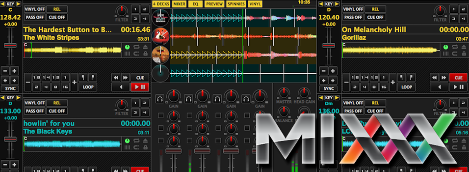 Mixxx Broadcasting Software Header